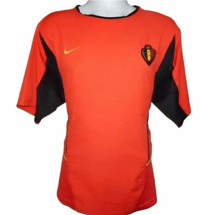 2002-2004 Belgium Home Football Shirt, Nike, Large (Good Condition)